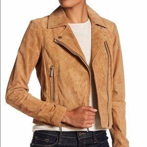 Michael Kors Suede Moto Jacket